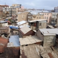 Roofs and yards in Yerevan