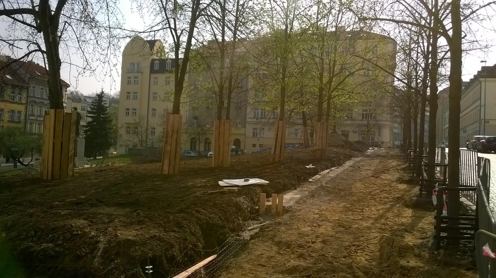stromy na staveništi stromy x stavba Martin Plocek