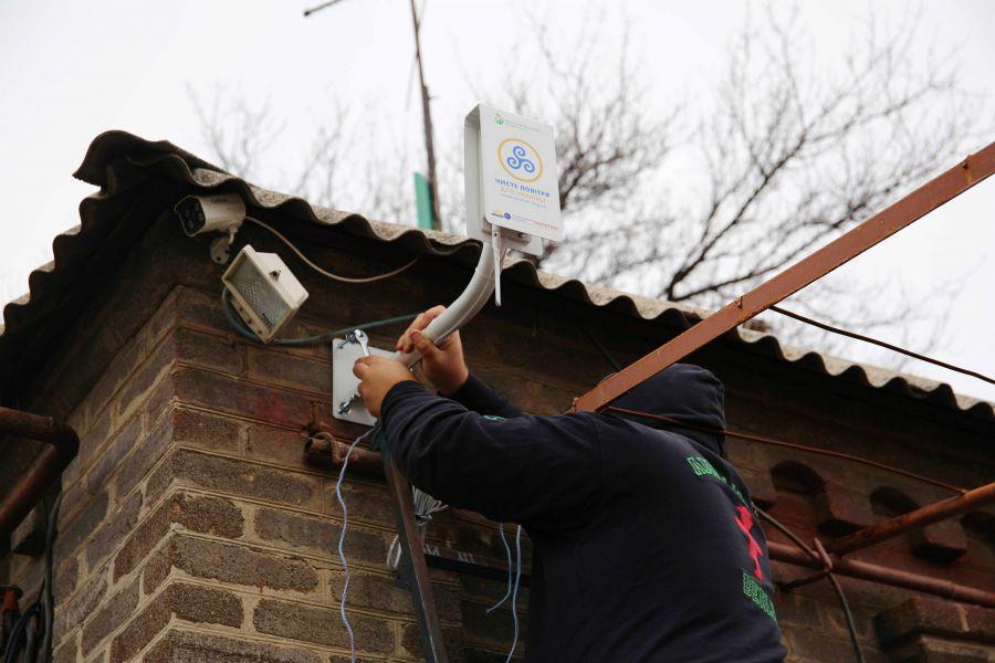 Установка станции мониторинга в Краматорске
